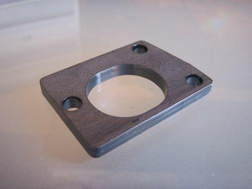 Ansaugerplatte 3-Loch Smallframe für Eigenbau-Ansauger