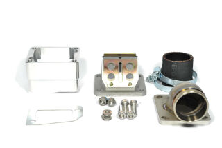 "MRP Reed Valve System ""Shorty"", short intake surface, 36mm complete set with RD350 reed and carb rubber"