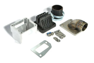 MRP Reed Valve System, long intake surface, 30mm complete set with VForce4 and carb rubber