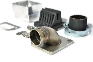 MRP Membranansaugstutzen Largeframe, lange Einlassdichtfläche, 30mm, mit VForce4 und Vergasergummi