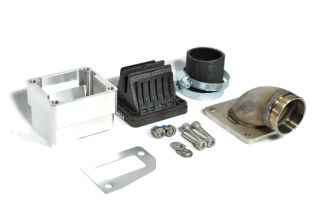 MRP Reed Valve System, long intake surface, 36mm complete set with VForce4 and carb rubber