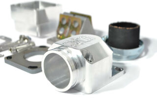 MRP Membranansaugstutzen Largeframe, lange Einlassdichtfläche, 35mm, CNC-EDITION, mit RD350 Membran und Vergasergummi
