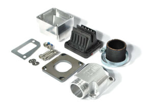 """MRP Reed Valve System """"Shorty"""", short intake surface, 30mm, CNC-Edition with VFORCE4  reed and carb rubber"""