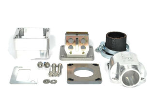 """MRP Reed Valve System """"Shorty"""", short intake surface, 35mm, CNC-Edition with RD350 reed and carb rubber"""
