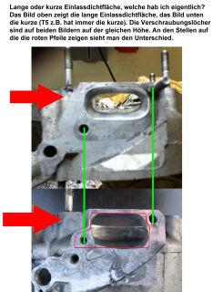 """MRP Membranansaugstutzen Largeframe, """"Shorty"""", kurze Einlassdichtfläche, 38mm, mit RD350 Membran und Vergasergummi"""