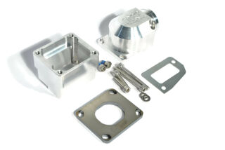 "MRP Membranansaugstutzen Largeframe ""Shorty"", kurze Einlassdichtfläche, 38mm, CNC-EDITION, ohne Membran"
