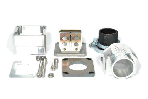 """MRP Membranansaugstutzen Largeframe """"Shorty"""", kurze Einlassdichtfläche, 38mm, CNC-EDITION, mit RD350 Membran und Vergasergummi"""