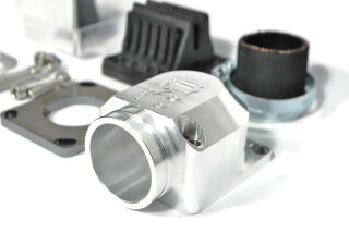 """MRP Reed Valve System """"Shorty"""", short intake surface, 38mm, CNC-Edition with VFORCE4  reed and carb rubber"""