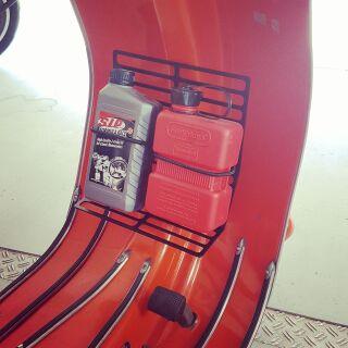 Luggage carrier, black, Vespa Sprint, VNB, VNA, VBB, V50, PV usw...