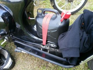 Luggage hooks black Vespa PX, Sprint, PK, V50, Rally, VNB...