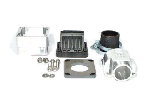 MRP Reed Valve System for LML-engine-case, 35mm, CNC-edition, with VForce4 and carb rubber