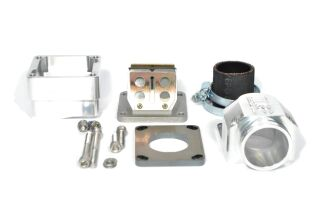 MRP Reed Valve System for LML-engine-case, 38mm, CNC-edition, with RD350 reed and carb rubber
