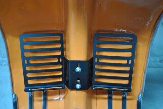 Ölflaschenhalter / Gepäckträger Beinschild, Edelstahl, 2er Set