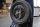 Gepäckträger, Gepäckgitter Ersatzrad vorne, schwarz pulverbeschichtet, Vespa Sprint, V50, PV, VNB...