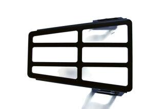 Gepäckträger Durchstieg schwarz pulverbeschichtet Vespa PX / T5