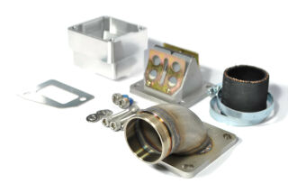 MRP Reed Valve System, long intake surface, 36mm complete set with RD350 reed and carb rubber