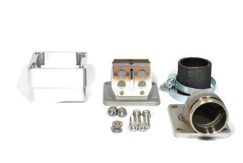 MRP Reed Valve System for LML-engine-case, 36mm, complete set with RD350 reed and carb rubber